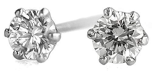 pi0470-222 [ブランド名:2PIECES] ピアス プラチナ ダイヤモンド 一粒ダイヤ 0.1ct pt900 シンプル 両耳分1セット売り