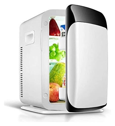 SHUHANG Frigorífico con bajo Consumo Digital Dual-Core Dual-Core 15L LCD Coche Refrigerador de la Fuente de alimentación Compatibilidad (Color : White, Size : 44x40.5x64cm)