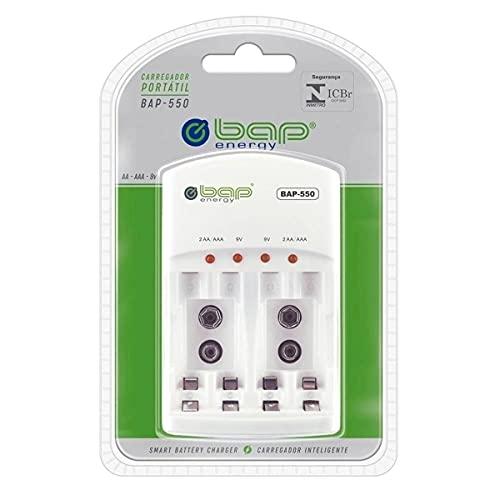 Carregador de pilhas e baterias (AA/AAA/9v) sem pilhas Bap -550 - Energy