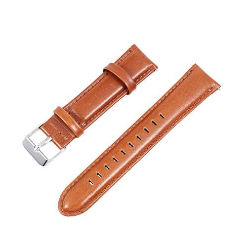 Baluue Compatible con Samsung Gear S2 Classic Correa de Reloj - Reemplazo de Correa de Reloj de Cuero de liberación rápida para Hombres y Mujeres - Marrón
