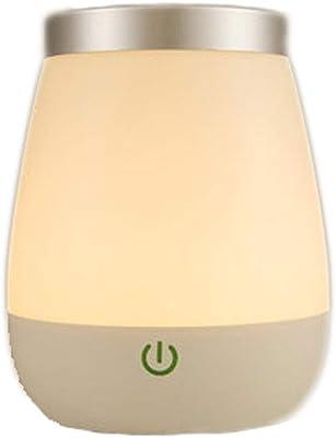 Lunartec Nachttischlampe Batterie: LED-Tischlampe mit PIR