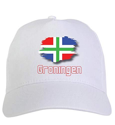 Typolitografie Ghisleri Cap wit Groningen Holland vlag klittenbandsluiting 115
