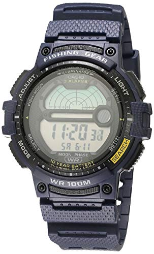 Casio Men's Fishing Timer Quartz Watch with Resin Strap, Blue, 24.1 (Model: WS-1200H-2AVCF)