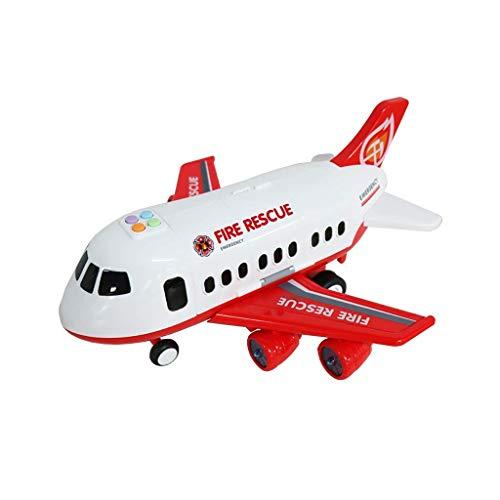 WLGQ Avión de Juguete para niños Pista de música de Gran tamaño Resistencia a la caída Niño Inercia Coche de Juguete Simulación Modelo de Pasajero Modelo de Coche de aleación Regalo Sorpresa (Col