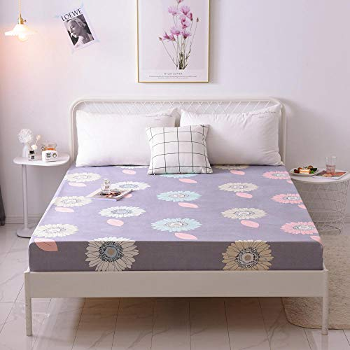 GTWOZNB Microfibre Flat Sheet - Luxurious No-Iron Bed Sheet is Breathable, Bed sheet dust cover single piece-20_150*200cm
