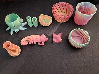 FilaCube 1.75mm 1 Kilogram Rainbow Gradient Multiple Color PLA 2 (PLA 2nd Generation) 3D Printer Filament Transition Colour Multicolor Progressive [Made in USA] 1kg 1kilogram kg Transitional