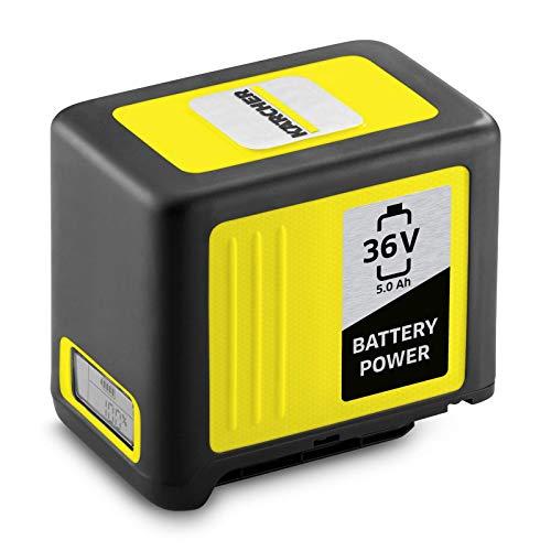 Kärcher Battery Power 36/50, 36 V, 5,0 Ah (Energieverbrauch 180 Wh, Echtzeitanzeige Akku, Lithium-Ionen-Akku, extrem robust, Temperaturmanagement, Strahlwasser geschützt, automatischer Lagermodus)