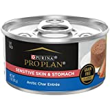Purina Pro Plan Sensitive Stomach Wet Cat Food, FOCUS Sensitive Skin & Stomach Arctic Char Entree - (24) 3 oz. Pull-Top Cans, Brown