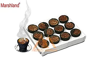 MARSHLAND Special Pure Loban Dhoop Cup 12 Dhoop Cups in 1 Pack Natural Sambrani Dhoop Cup (Pack of 1)