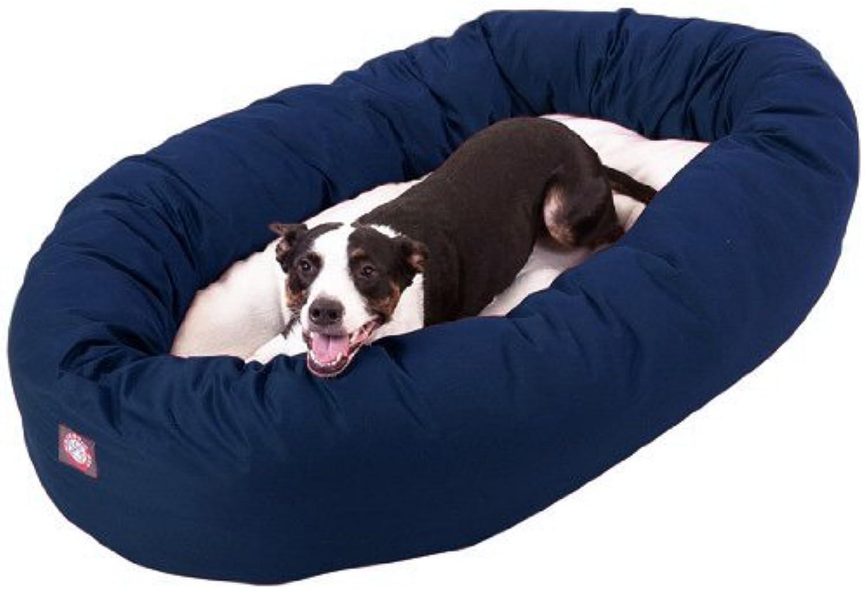 Majestic Pet PolyCotton Sherpa Bagel Dog Bed
