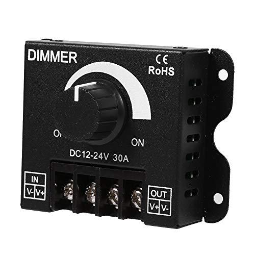 Cafopgrill DC 12V / 24V 30A 360W / 720W Interruptor de LED Controlador de Regulador para Tira LED Luz Color Lámpara de Cinta Luz de Control de Botón Negro Brillo
