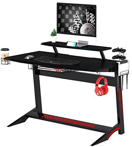 SixBros. Gaming Escritorio de computadora óptica de Carbon Negro GT-008/8393