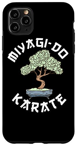 iPhone 11 Pro Max Vintage Miyagi-Do Karate Bonsai Tree Karate Lover Gift Case