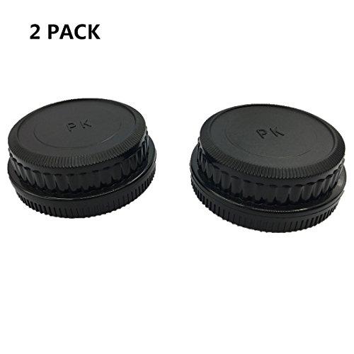 HomyWord Juego de tapa de lente trasera de la tapa del cuerpo de 2 piezas Tapa frontal del cuerpo para Pentax DS2, D, DL, DL2, K10D, K20D, K100D, K110D, K200D