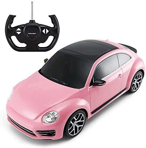 Zhangl Escarabajo Niños de iluminación remota cumpleaños de control de coches de juguete Boy Racing Buggy rosa de la muchacha de coches Hobby juguetes del coche LED de Navidad Año Nuevo regalo 2.4G RC