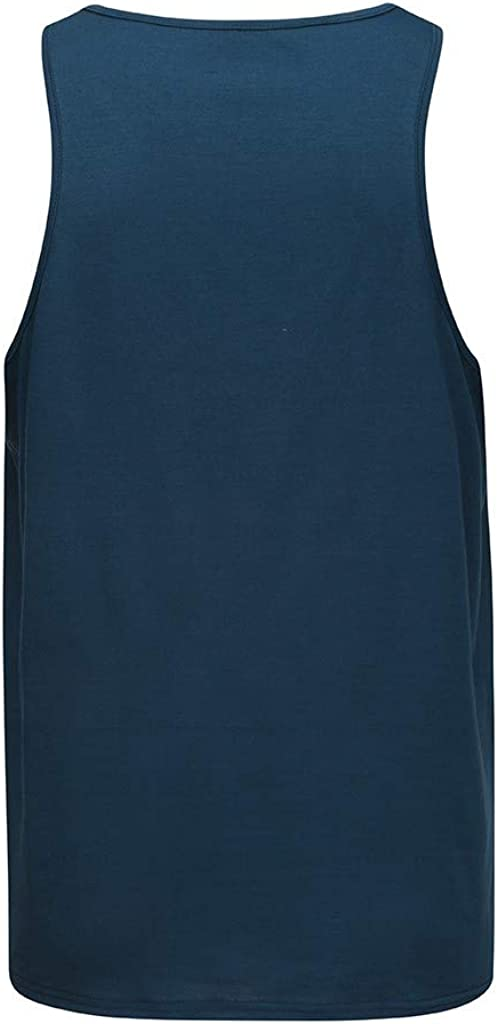 WUAI-Men Gym Stringer Tank Top Workout Muscle Cut Shirt Fitness Bodybuilding Vests T Shirts