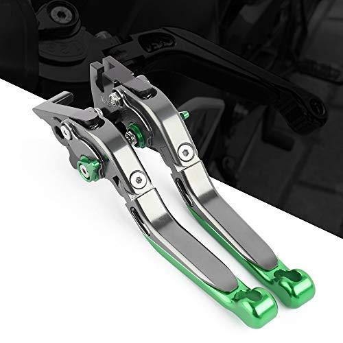 可倒 伸縮式 6段階可調 CNCアルミ ブレーキレバー&クラッチレバー 適応 Kawasaki カワサキ Ninja250 Ninja250R Ninja250SL 250TR Z125 PRO KSR PRO