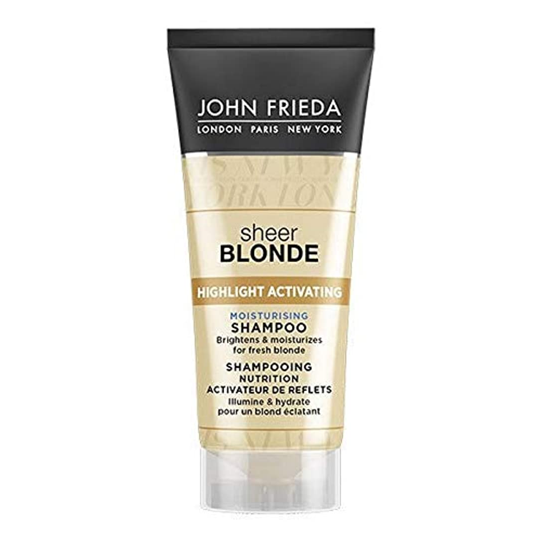 逆軌道ゴールド[John Frieda ] ジョン?フリーダ膨大なブロンドハイライト/行為シャンプープラチナ50ミリリットル - John Frieda Sheer Blonde Highlight/Act Shampoo Platinum 50ml [並行輸入品]