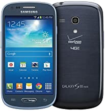 Samsung Galaxy S3 Mini G730 8GB 4G LTE Verizon CDMA Android Phone - Blue (Certified Refurbished)