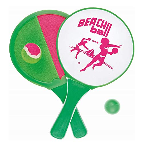 REYOK 2 Piezas de Juego de Bola y Lanzamiento Juego de Lanzamiento de Disco y Paleta,Palas de Playa Verano Juego Deportes Niños Presenta