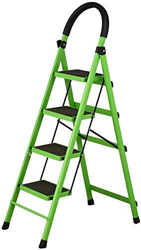 SED Escaleras de tijera multiusos Escalera plegable Escalera plegable de 4 escalones Escalera móvil Escaleras móviles para cocina Dormitorio Escalera antideslizante Taburete,Verde: Amazon.es: Bricolaje y herramientas