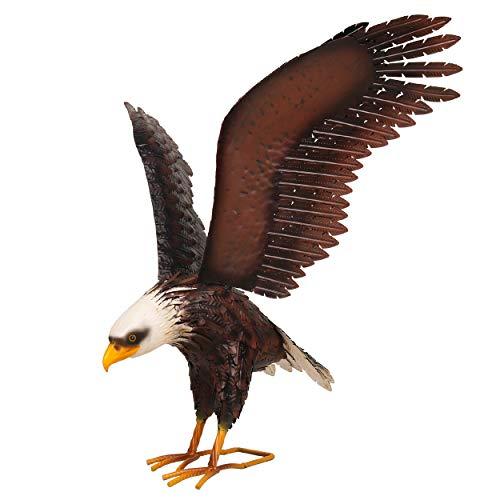 Kircust Garden Sculpture & Statue, Bald Eagle Large Outdoor Statues Metal Yard Art, Majestic America Eagle Bird Décor…
