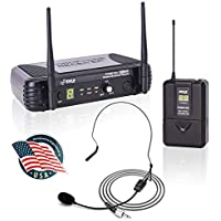 Pyle 8-Channel Wireless Microphone System with Headset