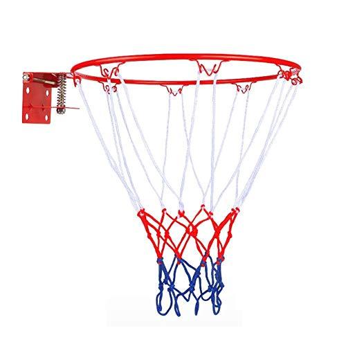 Estándar 32 cm / 12.6 Pulgadas Montado en la Pared Cuello de Baloncesto Anillo de aro de asador Net Rim Dunk Disparo para Exteriores al Aire Libre Reemplazo (Color : B)