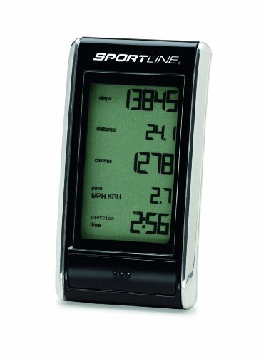 Sportline 308 Snapshot Pedometer- Designed Compact And Pocket-size to Count Steps Taken and Track Time Spent Moving Each Day