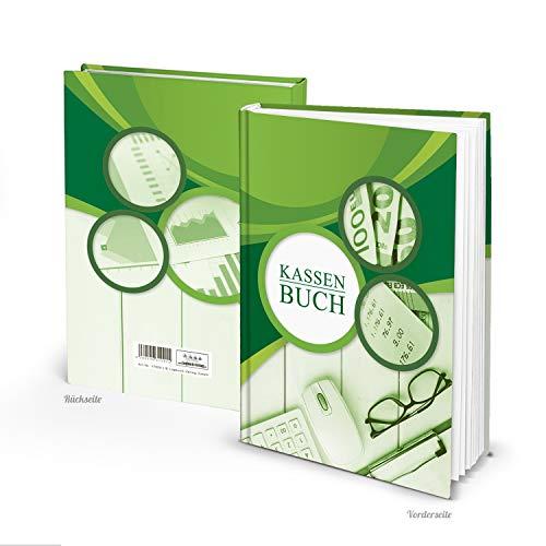 Logboek-uitgeverij correct kasboek hardcover DIN A5 groen kassa-afrekenboek kassa-overzicht overzicht Overzicht uitgaven boekhouding