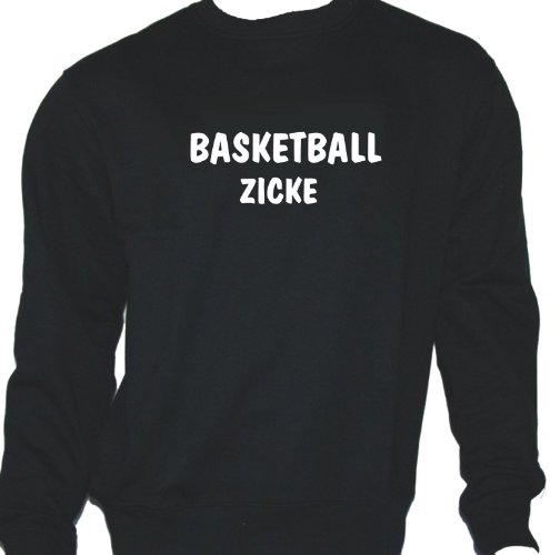 Basketball Zicke; Sweatshirt schwarz, Gr. M