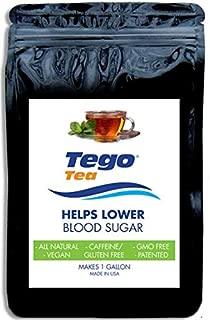 Tego Tea Herbal for Sugar Diabetes Control, (1 Bag) Makes 21 (6 oz. Servings) with Bonus Reminder Stickers