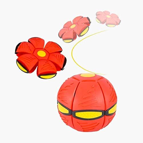 HHYSPA Flying Ball Spielzeug, UFO Magic Soccer Deformation Ball Fliegende Untertasse Ball Fliegende LED-Scheibe, Verformung Magic Football Flachwurf Ball, Magic Flying Untertasse Ball Blue