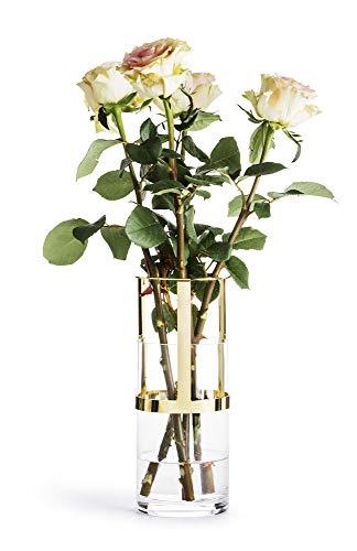 Sagaform Designer Adjustable and Glass Vase, Glas, Klar/Gold