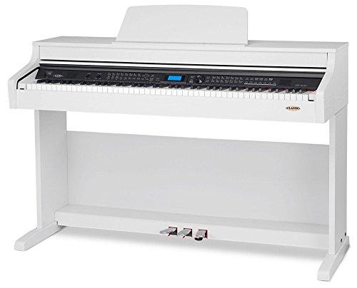 Classic Cantabile DP-A 410 WM E-Piano (Digitalpiano mit Hammermechanik, 88 Tasten, 600 Voices, Kopfhöreranschluss, USB, Begleitautomatik, Aufnahmefunktion, 3 Pedale, Piano für Anfänger) weiß matt