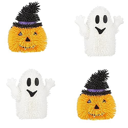 The Dreidel Company Light-Up Halloween Puffers Toy, Halloween Gag Accessory, Halloween Party Favor (4-Pack)