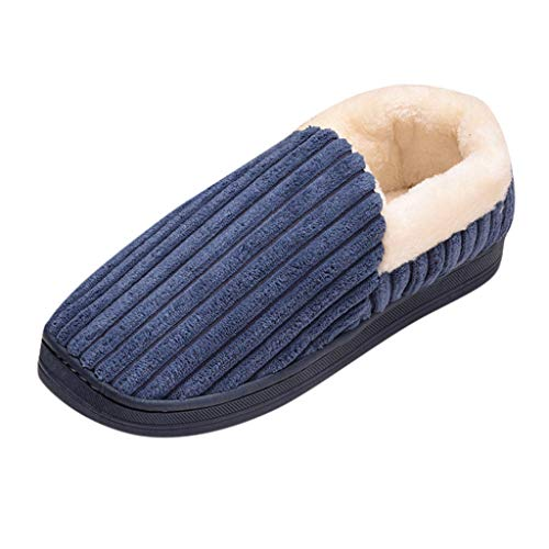 BaZhaHei Damen Herren Plüsch Baumwolle Pantoffeln Weiche Leicht Wärme Hausschuhe Kuschelige Für Unise Indoor-Schuhe Knoten-Boden-Ausgangshefterzufuhren-Müßiggänger-Innenschuhe