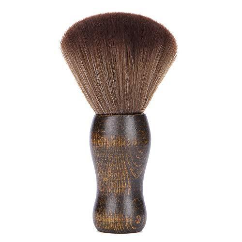 Anself Cepillo de maquillaje suave Cuello Cepillo de limpieza Cepillo para el cabello Cepillo de afeitar Herramienta de cepillo de barrido