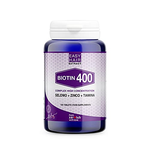 Zerolab Biotina Integratore Per Capelli Vitamina B12 Unghie e Pelle Selenio Zinco 120 Cps Made in Italy