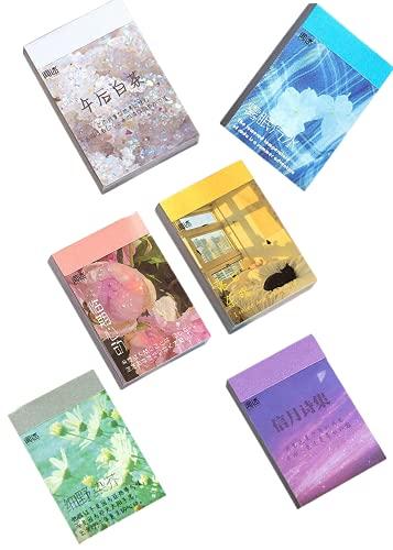 6Stücke Aufkleber Set für Journaling, Scrapbooking Tagebuch Planer Album Tagebuch, Notizbuch, Kartenherstellung Laptop Journaling DIY Kunst und Handwerk (6PACK-Wunsch)