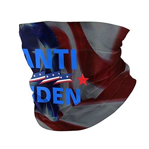 Impeach Anti Biden Neck Gaiter Face Cover Mask Men Women, Windproof Uv Sun Protection Balaclava Scarf,Fishing, Running & Hiking Black