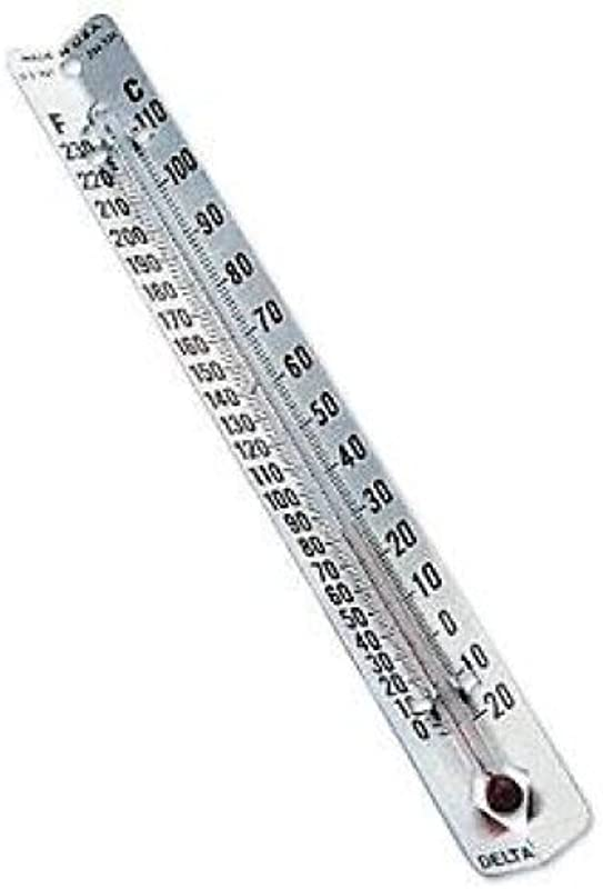 Delta Education V Back Metal Thermometers Fahrenheit Celsius Dual Scale Pack Of 30
