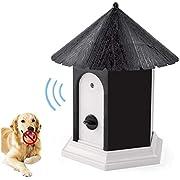 Anti Barking Device, Outdoor Bark Control Device, Waterproof Ultrasonic Stop Barking Dog Repellent, Sonic Bark Deterrents Dog Silencer Bark Box for Small Medium Large Dogs in Birdhouse Shape