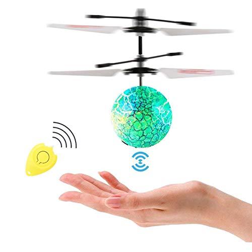 Colmanda Bola Voladora RC, RC Flying Juguetes para Niños Flying Ball, Juguete Flying Bola Colorida LED Magia Juguetes Drone Helicóptero de Regalo para Niños Adolescentes (con Control Remoto)