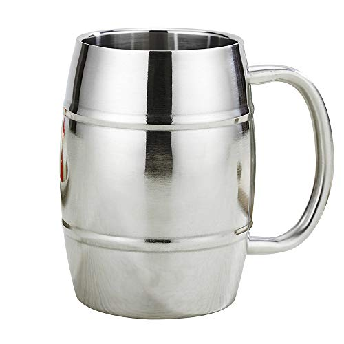 Barrel Design Double Wall Steel Beer Coffee Desk MugPremium Double Wall Insulated Travel CupTravel Tumbler Cup 15 Ounce