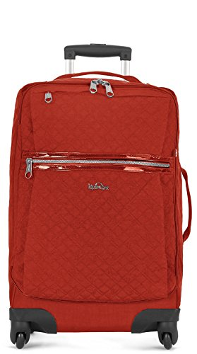 Kipling Darcey Softside Spinner Wheel Luggage, Red Rust Quilt, Carry-On 22-Inch