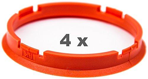 4x Anillo Central 73.0mm a 67.1mm naranja