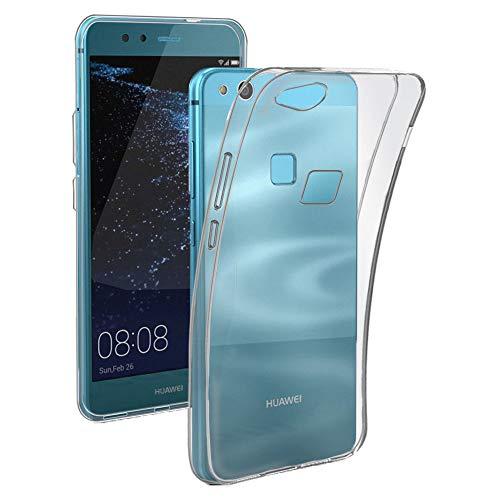 REY Funda Carcasa Gel Transparente para Huawei P10 Lite, Ultra Fina 0,33mm, Silicona TPU de Alta Resistencia y Flexibilidad