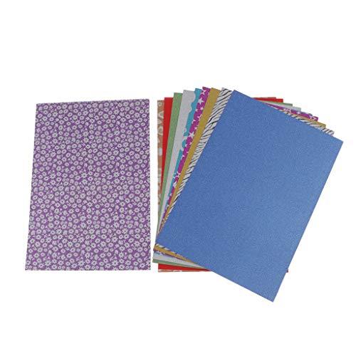 chiwanji 10 Hojas de Juguetes Plegables de Origami para Niños, Papeles de Artesanía Coloridos para Juguetes - Brillantina, tal como se describe