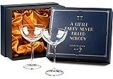 Vintage Crystal Champagne Coupe Glasses | Set of 2 | 4-5 oz Classic Cocktail Glassware - Martini, Manhattan, Cosmopolitan, Sidecar, Daiquiri | 1920s Speakeasy Retro Style Saucers | Storage Box
